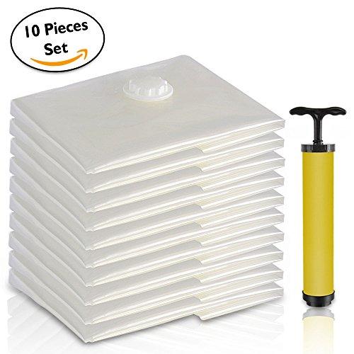 Premium Jumbo Sacs de rangement sous vide avec pompe à vide à la main | facile d