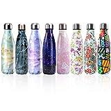 Bottiglia con doppio strato in acciaio inox,portatile BPA free Bottiglia,viaggio per sport senza...