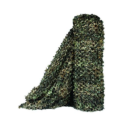 Sitong - Rollo grueso de red de camuflaje. Para caza, decoración militar, para dar sombra, 1.5Mx2M(4.9ftx6.6ft), Árbol Camo Bionic 2