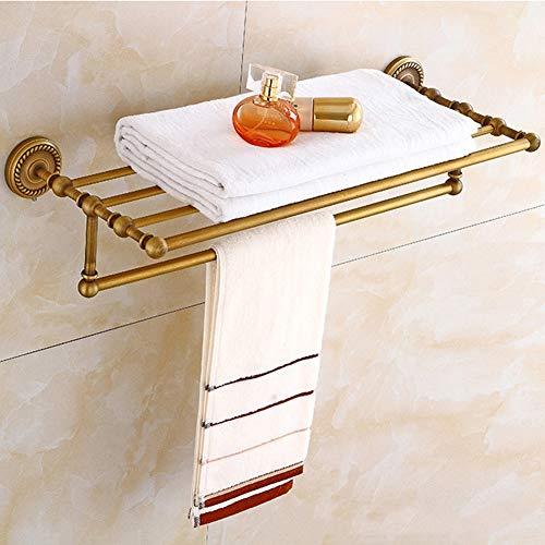 BAIVIT Europäischen Stil Twist Bad Handtuchhalter Bad Retro Wand Kupfer Kupfer Handtuchhalter Regal Geeignet Lagerung Hängen