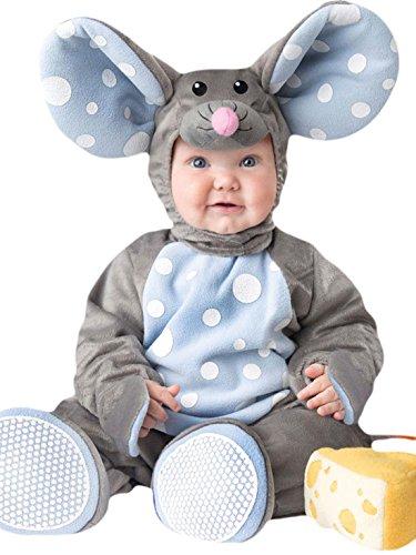 erdbeerloft - Unisex - Baby Karneval Kostüm Baby Maus , Grau, Größe 80-86, 12-18 Monate