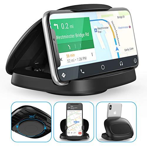 Handyhalterung Auto, JOYEKY Handyhalter fürs Auto Armaturenbrett mit 360° Drehung Starkes klebriges Gel Premium 3M für Alle 3-6.8 Zoll Phones, GPS Devices, Wiederverwendbar