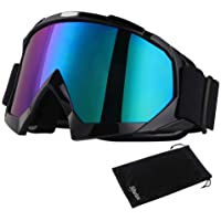 Sijueam Motorradbrillen Hochwertige Skibrille Anti Fog UV Schutzbrille mit Double Lens Schaumstoffpolsterung Uvex für…