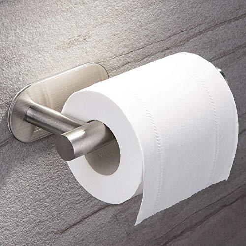 Ruicer Toilettenpapierhalter ohne Bohren, Klorollenhalter Selbstklebend Klopapierhalter Edelstahl für Bad