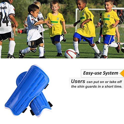 jiele Youth Kids Soccer Shin Pads  Lightweight   Breathable Child Calf Protective Gear Soccer Equipment for 6-12 Years Old Kids  Teenagers  Boys  Girls  Blue