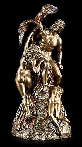 Prometheus Figur - Der Feuerbringer mit Adler Ethon - Veronese