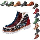 Zegeey Damen Kurzschaft Stiefel Retro Classics Stiefel Herbst Winter Casual Boots Winterstiefel...