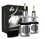 KOOMTOOM LED Scheinwerfer Kit, H7 Scheinwerfer Lampe CANBUS FEHLER FREE Verbesserte CSP LED Chips 4 Seiten Beam 60W 5600LM 1 Jahr Garantie