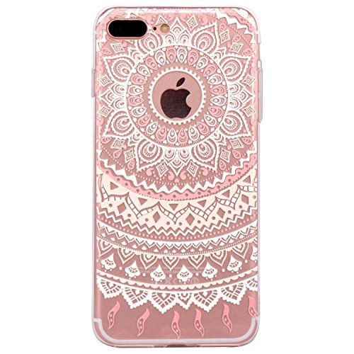iPhone 6 Case, Walmark Beautiful Clear TPU Soft Case Rubber Silicone Skin Cover for iPhone 6 4.7 inch inch - Pink White Tribal Mandala Dream Catcher