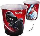 Unbekannt Papierkorb / Behälter -  Star Wars - Darth Vader  - incl. Name - 8 Liter - aus Kunststoff - Spielzeugkorb / Popcornschüssel / Mülleimer Eimer - auch als Blu..