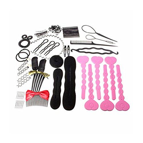 Frcolor Coiffure Accessoire de coiffure Bracelet pour cheveux Accessoire pour cheveux Accessoire pour outils Coiffeur Pinces à cheveux Clip Donut Tool