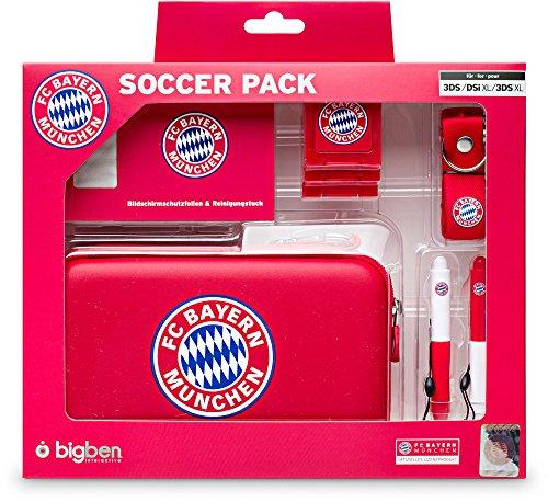 Soccer Pack - Bayern München Offiziell lizenziertes Zubehör Pack für Nintendo 3DSXL, DSi XL, 3DSXL und 3DS Lite