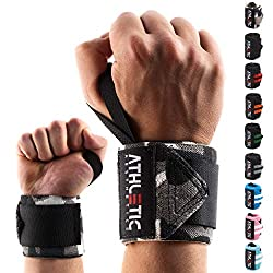 Wrist bandage [set of 2] in 45cm / 60cm length + basic exercise guide - wrist wraps for strength training, bodybuilding, crossfit and fitness - wrist bandages suitable for women and men