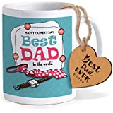 TIED RIBBONS Fathers Day Special Gifts For Dad | Gift For Father In Law | Fathers Day Gifts From Daughter | Printed Coffee Mug With Wooden Tag