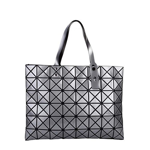FZHLY Signore Laser Fashion Bag Geometrica Lingge Borsa,Pink Silver