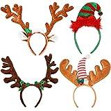 semen Kurzes Plüsch Geweih Stirnband für Weihnachten Rentier Nikolaus Mütze Rentier Haarreif