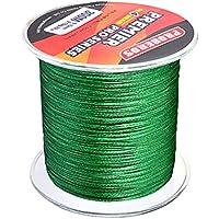 perfk Línea de Pesca de Agua Salada Cable PE 300m 30lbs 0.26mm - Verde, 0.26mm