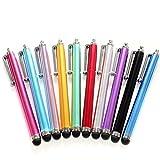 XiuFen 3 Pcs/5 Pcs/10 Pcs Universal Premium Capacitive Stylus for iPad iPhone Tablet Random Color 10pcs