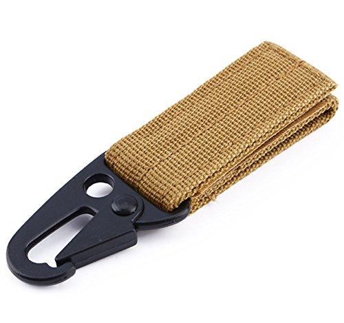Cinturón Mosquetón Colgante Tactico Molle de Nylon Gancho Clave Correas de Alta Resistantancia, Color Negro