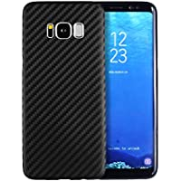 doupi UltraSlim Case Samsung S8 Carbon Fiber Look Fibra di Carbonio ottiche piuma facile Copertura Tacsa Custodia Caso Cover Hardcase - Nero