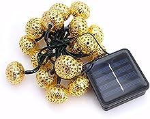 kasit 20LED marroquí metal dorado Solar cuerda iluminada para Navidad/Nochevieja./Fiesta/Fairy boda/Outdoor/Indoor/Jardines/Casas/luz decorativa