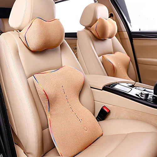 Taillenkissen / Kopfstütze HuanLeBao Arbeiten Sie neuestes ergonomisches Entwurfs-Nackenkissen-Sitzkissen für Auto / Haus / Büro um , Beige