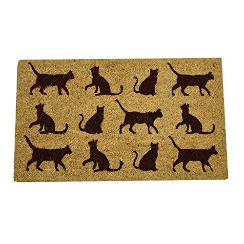 trendaffe Katzen Fußmatte - Katzenmotive Fußabtreter Schmutzfangmatte Türmatte