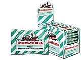 Fisherman's Friend Mint   Karton mit 24 Beuteln   Minze und Menthol Geschmack   Zuckerfrei für frischen Atem
