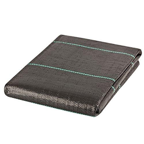 GardenMate® 2mx10m Anti-Unkrautgewebe Unterbodengewebe Bändchengewebe UV stabil 100g/m²