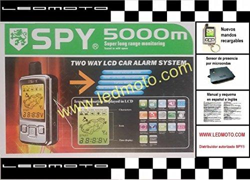 Spy - Alarme de voiture 5000m (modèle F10S 2016) avec capteur de présence micro-ondes