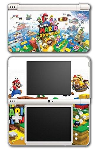 Super Mario 3D World 2 Land Mario Luigi Peach Toad Cat Suit Video Game Vinyl Decal Skin Sticker Cover for Nintendo DSi XL System by Vinyl Skin Designs (Mario 3d Land Für Nintendo Ds)