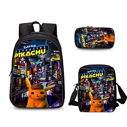 Home Arts Kinderrucksack Mit Cartoon Gedruckt Pikachu Spiel Anime 15,6 Zoll Computer Tasche Für Jungen V-One-Size - Elektronische Pokemon Spielzeug