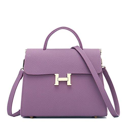 Moda Semplice Signore Borsa Multicolore Purple