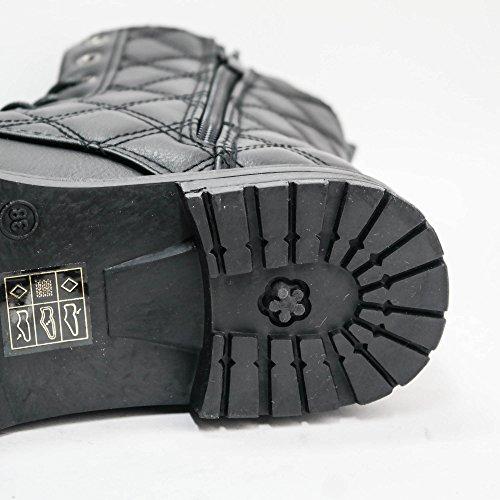 Damen Stiefeletten Boots Stiefel leicht gefüttert Schnürboots B17 Braun