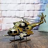 Kaige Tischdekoration Retro Metall Hubschrauber Helikopter