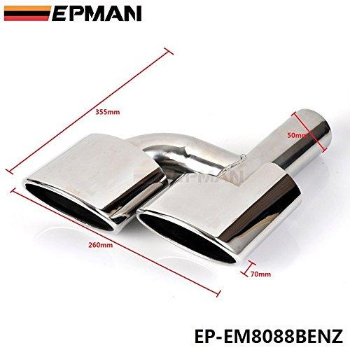 epman 5.0cm AMG-Punta Marmitta Di Scarico In Acciaio Inox 304per benz C-Class W204ep-em8088benz