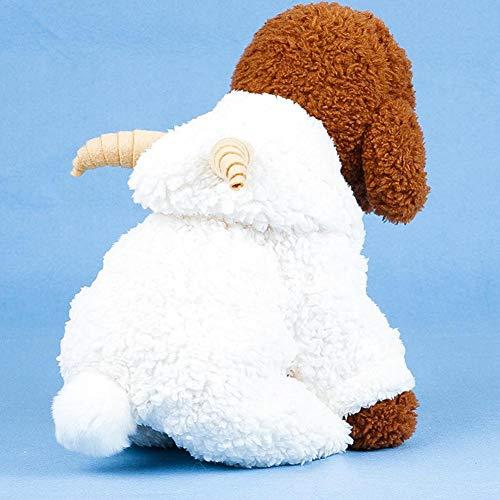AUTOECHO Haustierkostüm, Schafkostüm, für Herbst und Winter, für Halloween, Weihnachten, Party, weißes Schaf, für weiche Fleece-Kapuzenjacke