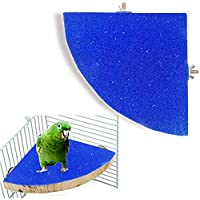 En Forma de Abanico Juguetes para Pájaros Perca de Pájaro para Pájaros Juguetes para Pajaros Columpio de Pájaros para Masticar Loros Perca de Pájaro Plataforma de Jaula de Patio Molienda