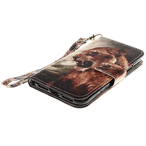 Apple iPhone 6 Plus / 6S Plus Custodia, GOCDLJ Copertura di Ccuoio Cover in PU Dipinto Sintetica Ecopelle Pelle Guscio per iPhone 6 Plus / 6S Plus Protezione Caso Ultra Sottile shell protettivi Bumper Leone