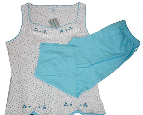 Creaciones Tasidaben - Ensemble de pyjama - Femme Rose Rose Rose - Light Blue sleeveless