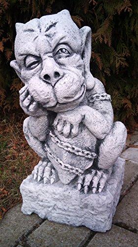 gartendekoparadies.de Herrlicher Gargoyle – Torwächter I aus Steinguss, frostfest
