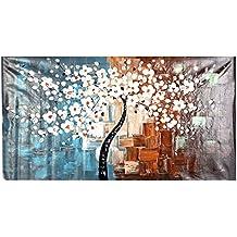 Anself OY-DS036 - Cuadro en lienzo moderno - Primavera - 60 * 120cm Pintura al óleo pintada a mano decorativo,sin marco