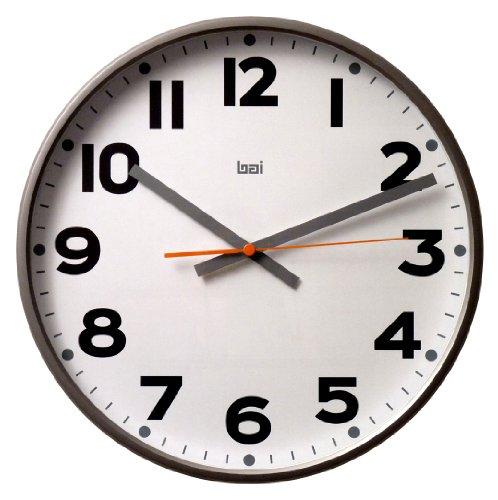 Bai Jumbo Wall Clock, Madison Gunmetal by bai by bai