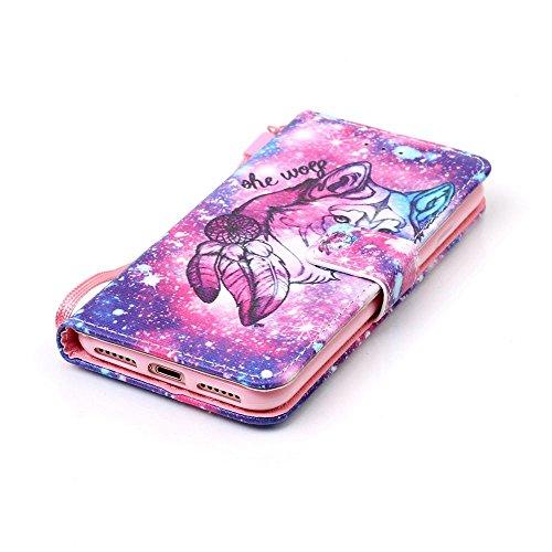 Owbb petit monstre et ballons Housse en PU cuir de protection pour iPhone 7 (4.7 Pouces) étui coque de téléphone Color 02