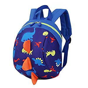 Cartoon Toddler Baby Harness Backpack, Yimoji Leash Safety Anti-lost Strap Walker Dinosaur Backpack for Kids Girls and Boys