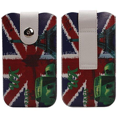"""xhorizon TM magnétique fermeture cuir Pull Tab Sleeve Case Cover Sac Etui Coque Housse Pochette boucle de ceinture ZY pour 4.7""""iPhone 6 B"""