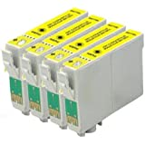 ***FREE POST**** 4 Yellow High capacity ink Cartridges for XP-305 XP-312 XP-202 XP-212 XP-102 XP-405 XP-415 XP-205 XP-30 XP-302 XP-33 XP-225 XP-322 XP-325 XP-413 XP-422 XP-425 for use in Epson Expression Printers NON Oem by bvhdirect