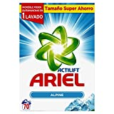 Ariel Frescor de Los Alpes Detergente en Polvo para 70Lavados - 4,55kg