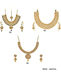 Fashion For Sure Combo Set Of Beautiful Necklaces For Lovely Womens & Girls (Combo0.15)