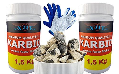 bri'X24T'you Karbid 1.500KG'DEUTSCHE PREMIUM QUALITÄT' UNERREICHT in QUALITÄT & langanhaltender WIRKUNGsDAUER *Große feste...